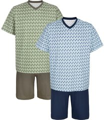somrig pyjamas roger kent ljusblå::khaki