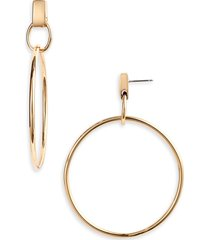women's vince camuto drop hoop earrings