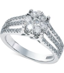 bouquet by effy diamond engagement ring in 14k white gold (9/10 ct. t.w.)