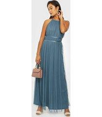 vila vilynnea halterneck maxi dress/su maxiklänningar