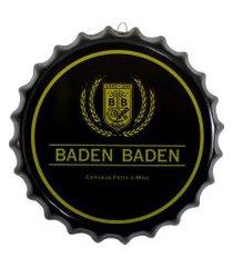 placa tampa de garrafa decorativa 33 cm baden baden