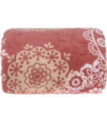 manta microfibra com mangas - bene casa - floral.. - rosa - dafiti