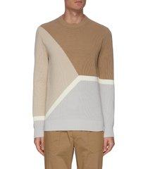gregg' geometric panel sweater