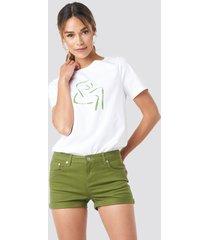 na-kd 5 pocket shorts - green