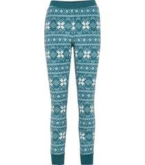 legging micro fleece fairisle pyjamasbyxor mjukisbyxor blå hunkemöller