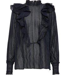 linette blouse lange mouwen zwart stella nova