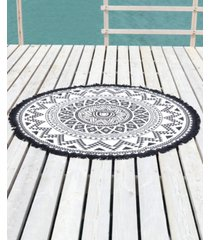 linum home kilim round pestemal beach towel bedding