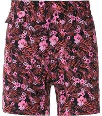 amir slama floral tactel swim shorts - black
