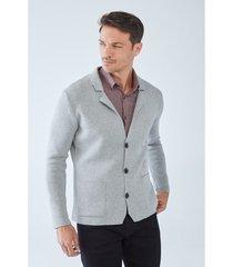 blazer boris becker lam jacket-style cardigan