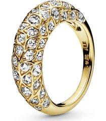 anel pandora shine™ folhas brilhantes