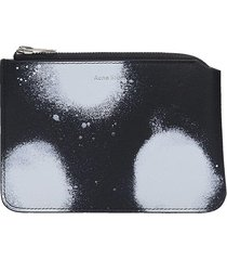 acne studios malachite s dot wallet in black leather
