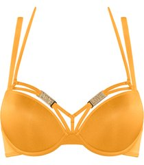 free love push up bh | wired padded kumquat orange - 70f
