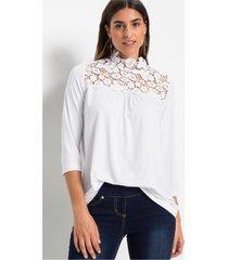 blouse met guipure