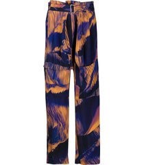paul smith oversized pocket trousers - blue