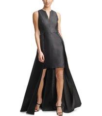 calvin klein v-neck short-long gown