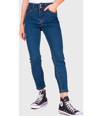 jeans io pitillo celeste - calce ajustado