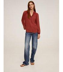 blouse met metallic garen