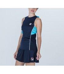 musculosa azul fila aus 21 jogo tenis