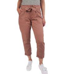 vanilla star juniors' tie-front cuffed utility pants