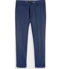scotch & soda stuart - wool blend trousers regular slim fit