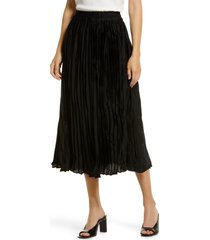 petite women's halogen satin skirt, size medium p - black