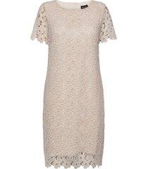 3177 - ellie knälång klänning creme sand