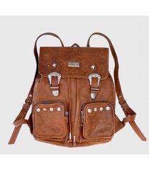 mochila marrón chenzi aurora