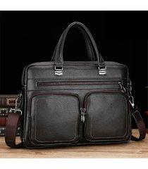 laptop da uomo con tracolla in pelle ecopelle da uomo borsa crossbody borsa