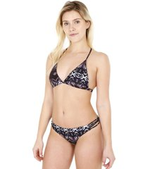 bikini triángulo estampado gris h2o wear