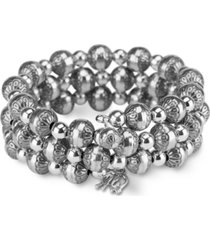 american west native pearl coil bracelet in sterling silver