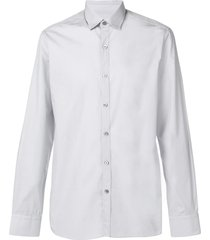 lanvin cutaway collar shirt - grey