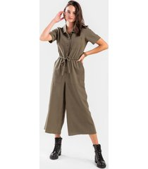hallie utility wide leg jumpsuit - olive