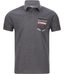 polo hombre strong color gris, talla l