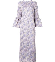 bambah camelia long kaftan dress - purple