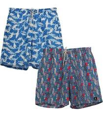 kit 2 shorts dooker summer masculino