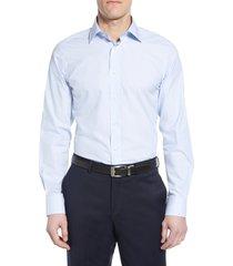 men's big & tall david donahue luxury non-iron trim fit stripe dress shirt, size 18.5 - 36/37 - blue
