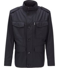 boss men's t-cyma dark blue jacket
