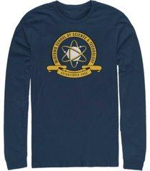 marvel men's spider-man homecoming midtown school of science emblem, long sleeve t-shirt