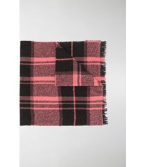 destin check knitted scarf