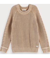 scotch & soda structured knit cotton pullover