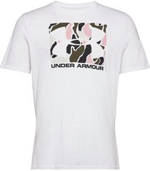 ua camo boxed logo ss t-shirts short-sleeved vit under armour