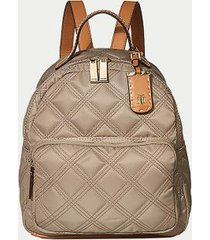 tommy hilfiger women's quilted dome backpack khaki -