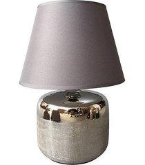 lampa stołowa aurora szara