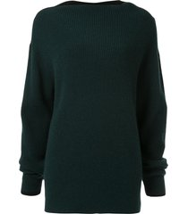 muller of yoshiokubo square neck sweater - green