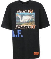 heron preston graphic swan photo t-shirt