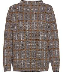 pullover long-sleeve stickad tröja brun gerry weber