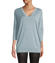 batwing-sleeve cashmere & silk-blend sweater