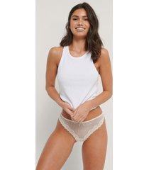 na-kd lingerie stingbastrosa i spets, 2-pack - white