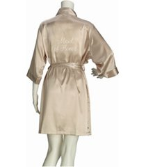 lillian rose champagne satin maid of honor robe, online only
