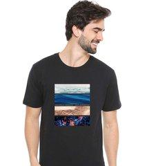 camiseta sandro clothing life preto - preto - masculino - dafiti